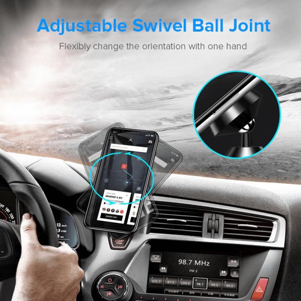 Suport telefon auto magnetic cu adeziv [8]