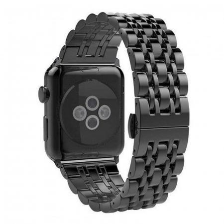 Bratara Metalica Business Black pentru Apple Watch 42/44mm [1]