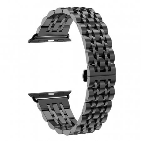 Bratara Metalica Business Black pentru Apple Watch 42/44mm [0]