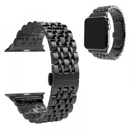 Bratara Metalica Business Black pentru Apple Watch 42/44mm [3]