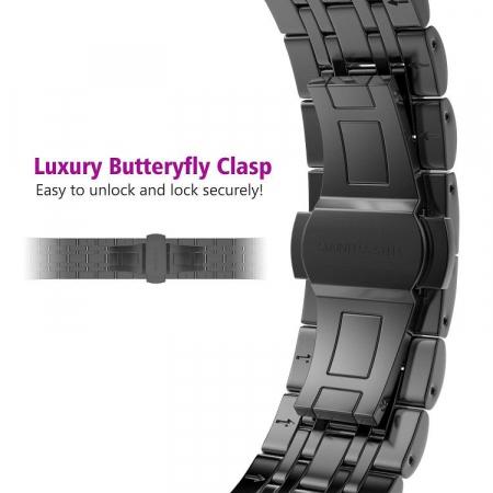 Bratara Metalica Business Black pentru Apple Watch 42/44mm [4]