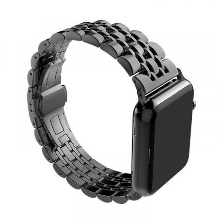 Bratara Metalica Business Black pentru Apple Watch 42/44mm [2]
