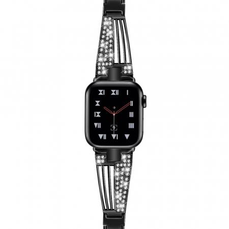 Bratara Apple Watch Metalica Luxury Stainless Steel Black 38/40mm [1]