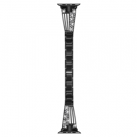 Bratara Apple Watch Metalica Luxury Stainless Steel Black 38/40mm [2]