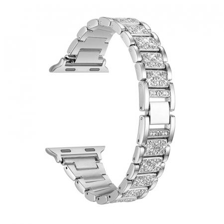Bratara Apple Watch Metalica Luxury Link Argintie 38/40mm [0]