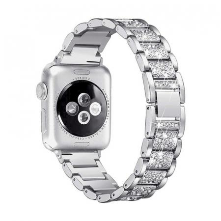 Bratara Apple Watch Metalica Luxury Link Argintie 38/40mm [1]