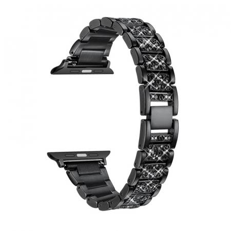 Bratara Apple Watch Metalica Luxury Link Neagra 38/40mm [0]