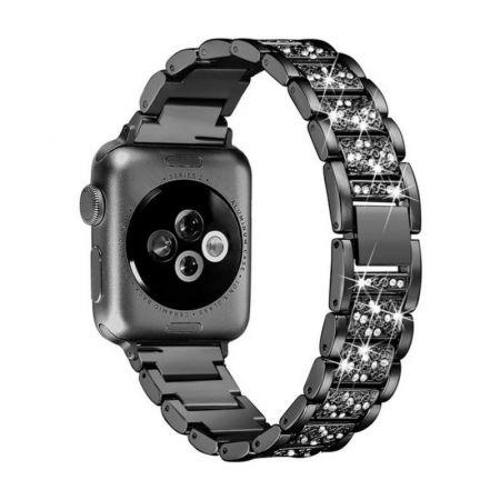 Bratara Apple Watch Metalica Luxury Link Neagra 38/40mm [1]