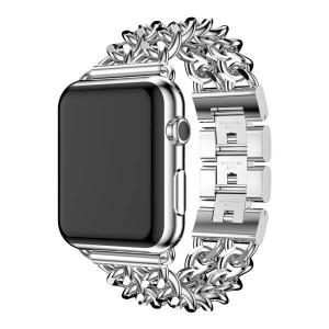 Bratara Apple Watch Metalica Denim Chain Argintie 38/40mm [1]