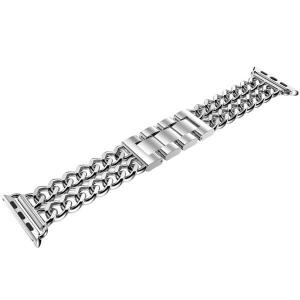 Bratara Apple Watch Metalica Denim Chain Argintie 38/40mm [4]