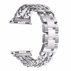 Bratara Apple Watch Metalica Denim Chain Argintie 38/40mm [0]