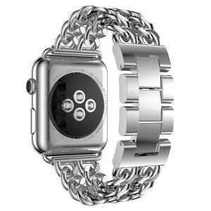 Bratara Apple Watch Metalica Denim Chain Argintie 38/40mm [2]