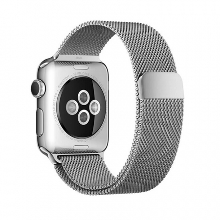 Bratara Curea Apple Watch Magnetica Metalica Milanese Loop argintie 38/40mm [6]