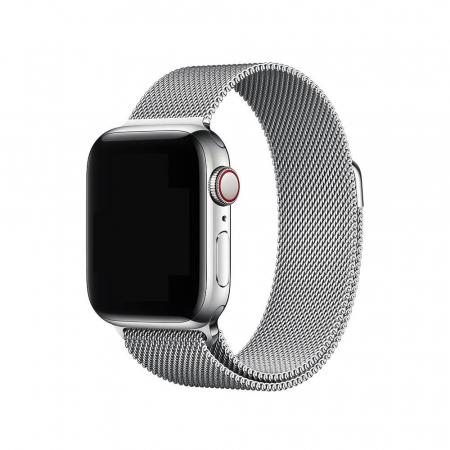 Bratara Curea Apple Watch Magnetica Metalica Milanese Loop argintie 38/40mm [1]
