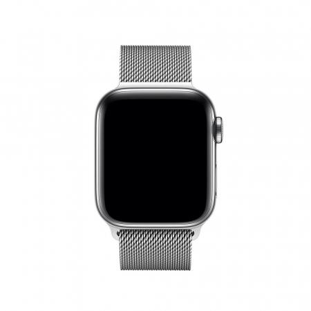 Bratara Curea Apple Watch Magnetica Metalica Milanese Loop argintie 38/40mm [2]
