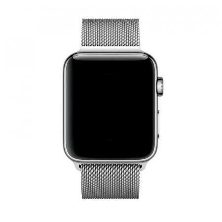Bratara Curea Apple Watch Magnetica Metalica Milanese Loop argintie 38/40mm [5]