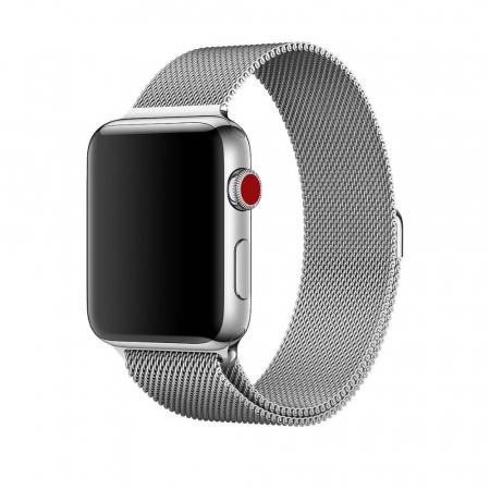 Bratara Curea Apple Watch Metalica Magnetica Milanese Loop argintie 42/44mm [4]