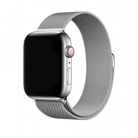 Bratara Curea Apple Watch Metalica Magnetica Milanese Loop argintie 42/44mm [1]