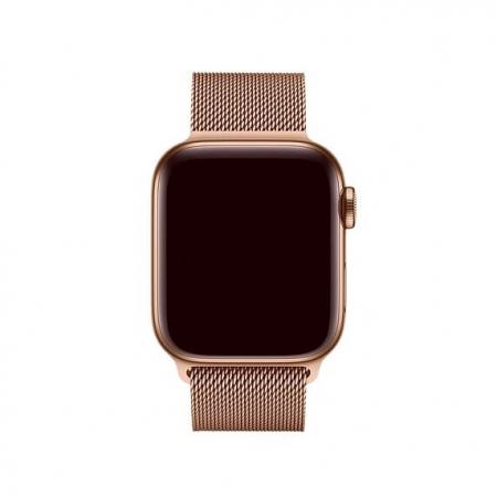 Bratara Apple Watch Metalica Magnetica Milanese Loop Gold Rose / Roz 38/40mm [2]