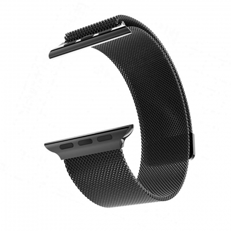 Bratara Apple Watch  Milanese Loop neagra  38/40 mm [11]
