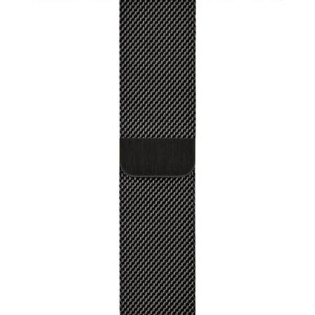 Bratara Curea Apple Watch Metalica Magnetica Milanese Loop neagra 42/44mm [10]