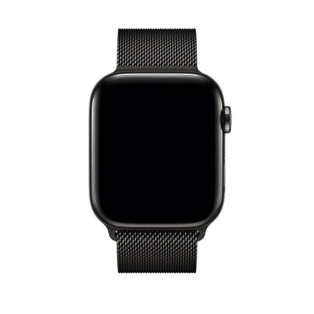 Bratara Curea Apple Watch Metalica Magnetica Milanese Loop neagra 42/44mm [2]