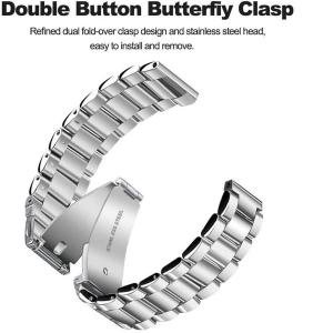 Bratara curea ceas metalica argintie 22mm [3]