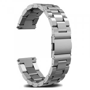 Bratara curea ceas metalica argintie 22mm [0]