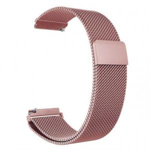 Bratara Curea Magnetica Metalica Milanese Loop Roz Rose 20mm [0]