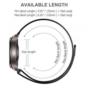 Bratara Milanese Loop Gri pentru Huawei GT/GT2 [3]