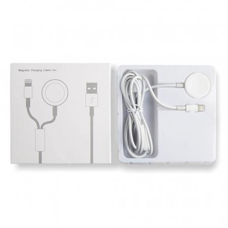 Cablu lightning 2 in 1 pentru iPhone/iPad si Apple Watch [5]