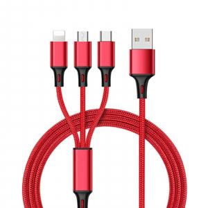 Cablu universal 3 in 1 rosu, Rosu