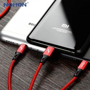 Cablu universal 3 in 1 rosu [2]