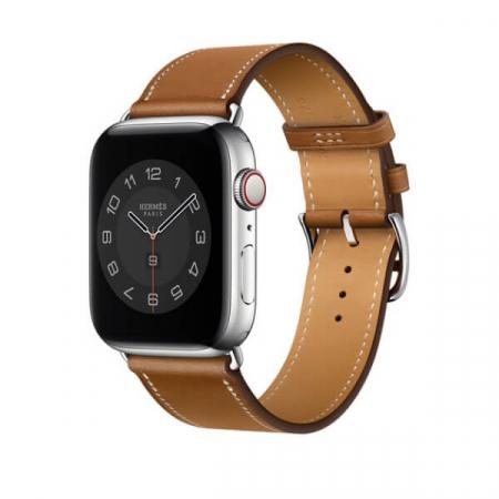 Curea Apple Watch Piele Maro Deschis 42/44mm [1]