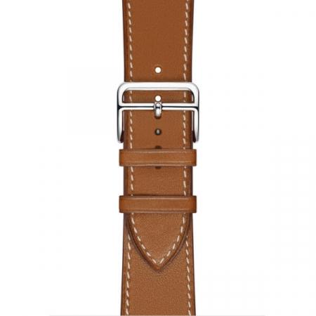 Curea Apple Watch Piele Maro Deschis 42/44mm [0]