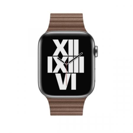 Curea Apple Watch cu prindere magnetica din piele maro 42/44mm [2]