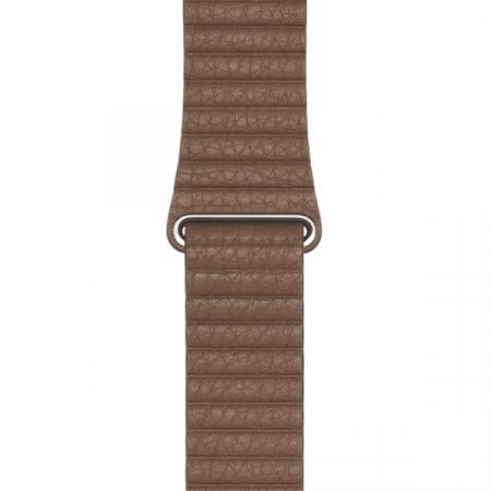 Curea Apple Watch cu prindere magnetica din piele maro 42/44mm [0]