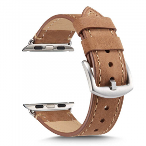 Curea pentru Apple Watch din Piele Maro Deschis 42/44mm [0]