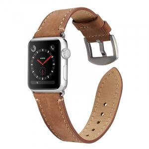 Curea pentru Apple Watch din Piele Maro Deschis 42/44mm [2]