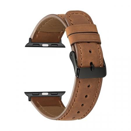 Curea Apple Watch Piele Maro Inchis 42/44mm [0]