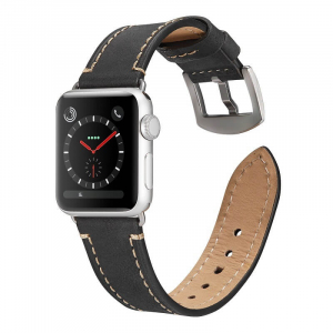 Curea pentru Apple Watch din Piele Neagra 42/44mm [2]