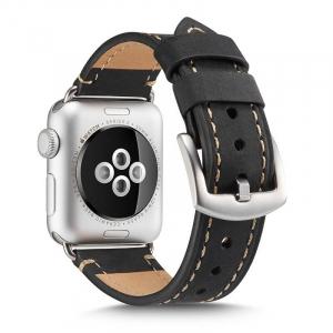 Curea pentru Apple Watch din Piele Neagra 42/44mm [1]