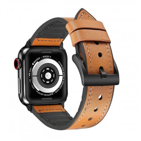 Curea Apple Watch Piele Maro si Silicon 42/44mm [1]