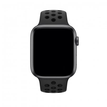 Curea Apple Watch Silicon Sport Neagra cu perforatii 42/44mm [1]