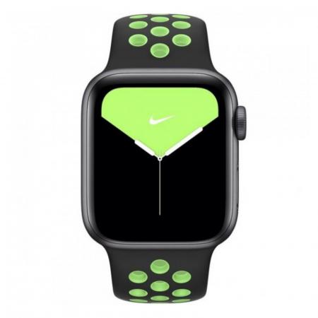 Curea Apple Watch Silicon Sport Negru-Neon cu perforatii 42/44mm [1]