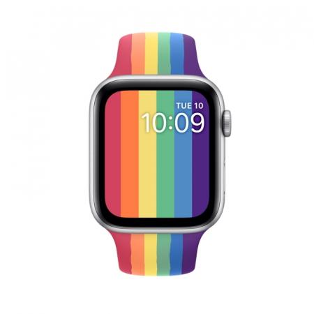 Curea Sport din nylon pentru Apple Watch compatibila cu seria 7 45mm, seria 6 44mm, seria SE 44mm, seria 5 44mm, seria 4 44mm, seria 3 42mm, seria 2 42mm si seria 1 42mm [2]