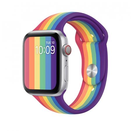 Curea Sport din nylon pentru Apple Watch compatibila cu seria 7 45mm, seria 6 44mm, seria SE 44mm, seria 5 44mm, seria 4 44mm, seria 3 42mm, seria 2 42mm si seria 1 42mm [1]