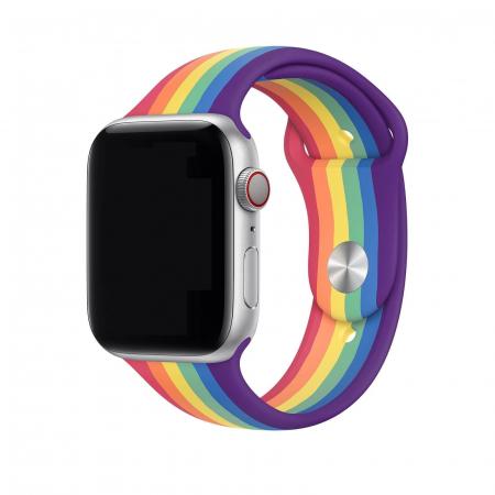 Curea Apple Watch Silicon Sport Curcubeu 42/44mm [1]