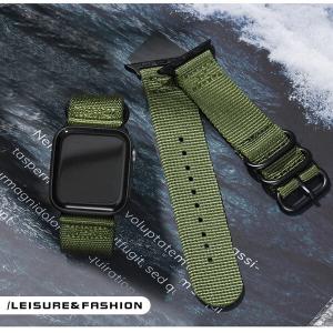 Curea Apple Watch sport nylon verde army 38mm 40mm [2]