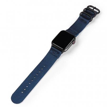 Curea Apple Watch nylon sport albastra 42/44mm [2]